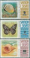 Samoa 1972 SG394-396 Fish Butterfly Shell MNH