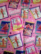 "Vintage Barbie Gift Wrap Wrapping Paper 1 sheet 30"" x 72"" ephemera junk journals"