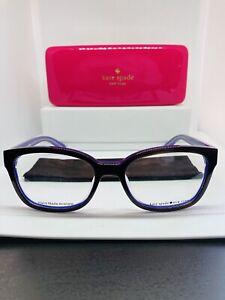 Kate Spade Eyeglasses - purple -black - Plastic-eye care- Glasses Case -cloth