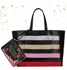 Victoria's Secret 2017 Black Friday Tote Bag & Pouch Mini Bag Sequins Bling NWT