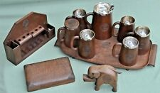 WW2 Royal Engineers Wood Tankards Jug Tray Cigarette Holder Cigar Box Pipe Rack