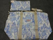 cath kidston london blue/white carry handle/shoulder strap bag new with tags