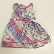 American Girl Plaid Party Dress MyAG for Dolls    (A17-20)