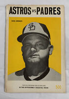Houston Astros 1973 Program & Scorecard vs. San Diego Padres