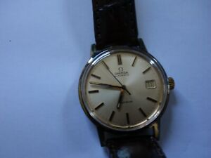 Beautiful Omega Automatic Geneve gold plated Flagship Men Watch