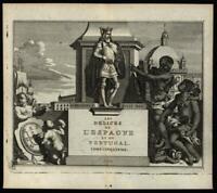 Title page frontis 1719 van der Aa Spain les Delices natives cherubs allegory