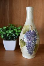 Cabernet Tabletops Unlimited Olive Oil Bottle Hand Painted Ceramic