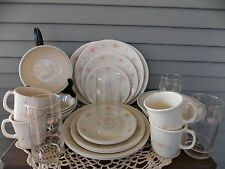 26 Piece Corelle Corning Forever Yours Dinnerware Set Service for 4 + Extras