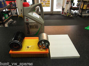 VW VOLKSWAGEN CADDY MK2 AEY 1Y SERVICE KIT OIL AIR FUEL CABIN FILTERS 5 LITRES