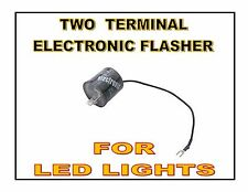 2 Terminal Turn Signal Flasher Switch For LED Lights / 12V / Electronic Switch