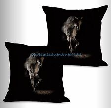 US SELLER-2pcs equine horse equestrian cushion cover pillow cases cheap