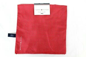 Tommy Hilfiger Men's Polka Dot Red Pocket Square Retail $35