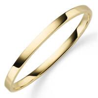 Armreif Armband Armschmuck aus 585 Gold Gelbgold, 5mm breit, flach, glänzend