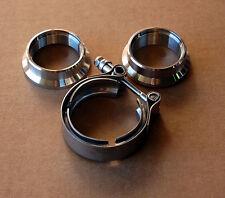 """2"""" 2.0 Stainless Exhaust V Band Clamp Flange Kit V-band vband MALE FEMALE DESIGN"""