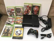 Microsoft Xbox 360 Elite Console 120GB Black System Lot w/ 8 Games Bundle