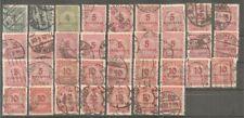 Deutsches Reich vanaf 314 gestempeld  c.w.  €  201,40 infla zegels