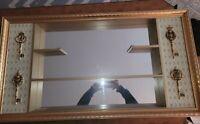 Turner Midcentury Modern Mirrored Shadow Box W/Keys