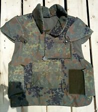 German Flecktarn Protective Flak Vest,Bundeswehr Issue, 1988, Size Medium (ML)