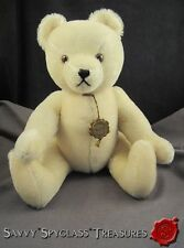 "Hermann W. Germany 15"" White Teddy Bear Original Growler Jointed Plush Wool Toy"