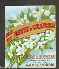 10 ETIQUETTES PARFUM : EAU DE FLEURS D'ORANGER de MERO & BOYVEAU GRASSE