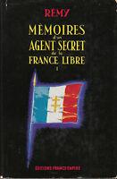 Livre mémoires d'un agent secret de la france libre book