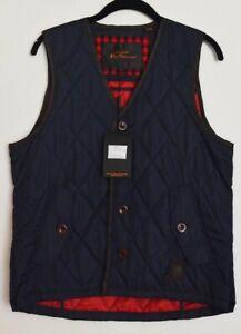 New Ben Sherman men's Fashion vest - Navy Blue Vest - Medium
