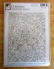 Cornish Heritage VICTORIAN Background Re-mountable RUBBER STAMP SET Acrylic Bloc
