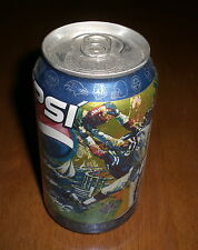 SUPER BOWL XXXVII PEPSI COLA PARTY CAN  - 2003 - RAIDERS vs BUCCANEERS