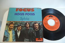 FOCUS 45T HOCUS POCUS / SYLVIA. RARE SPAIN MADRID PRESS POLYDOR 20 01 427.