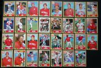 1987 Topps Cincinnati Reds Team Set of 31 Baseball Cards