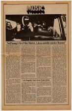 Neil Young Interview/article 1973 FGHJ