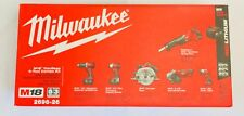 Milwaukee 2696-26 M18 18V Series Cordless Lithium-Ion 6-Tool Combo Kit New