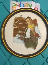 Norman Rockwell First Limited Edition PostalCollectors Tray 1976 Country Postman
