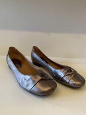 Gabor Pewter Flat Slip On Shoes Size Uk 7