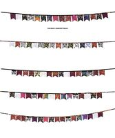 """129"""" Indian Style Flag Pennant Banner Bunting Wedding/Birthday Party Decor 5 PC"""