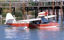 Giant 1/4 Scale Anderson Kingfisher Amphibian Seaplane Plans,Template,Inst 108ws