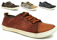 New Mens Lace Up Canvas Shoes - Comfort Summer Casual Trainers in UK SIZES 7-12