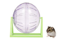Living World Clear Dwarf Hamster Mouse Play Exercise Ball With Stand 12 Cm 61720