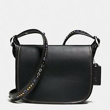Coach Studded Strap Patricia Leather Crossbody Bag Purse BLACK 59380 NWT NEW