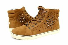 UGG GRADIE DECO STUDS SUEDE CHESTNUT HIGH TOP SNEAKERS SIZE 8 US
