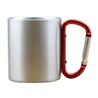 5oz Camping Coffee Mugs-Portable-Metal-Hook-Travel-Tea-Beer-Unbreakable-Cup