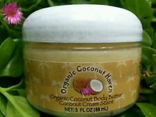 "Organic Coconut Body Butter Coconut Cream Scent 3oz. ""Travel Size"""