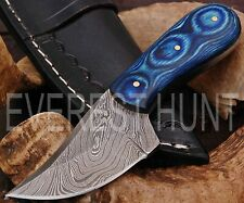 EVEREST HUNT CUSTOM HANDMADE DAMASCUS STEEL HUNTING CAMP SKINNER KNIFE B9-1905