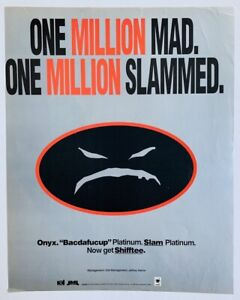 ONYX 1993 POSTER ADVERT Bacdafucup Slam SHIFFTEE Jam Master Jay
