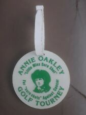 1982 1st Annual Annie Oakley Golf Bag Tag Greenville Ohio Country Club