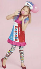 Chasing Fireflies Bazooka Bubble Gum Girls Complete Halloween Costume Sz 6-8