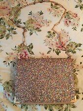 Rare Designer BENEDETTA BRUZZICHES Multicolour Glitter Leather Book Bag- £600