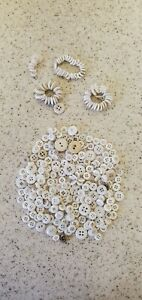 LOT -VINTAGE WHITE CHINA BUTTONS VARIED SIZES -EARLY BUTTONS LOT  294
