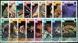 British Virgin Islands 1979 Set of 17 Marine Life SG417-433 Superb Used