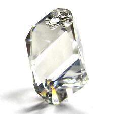Swarovski Elements Crystal 6650 Cubist Pendant Bead Silver Shade 6650-SSHA-22M